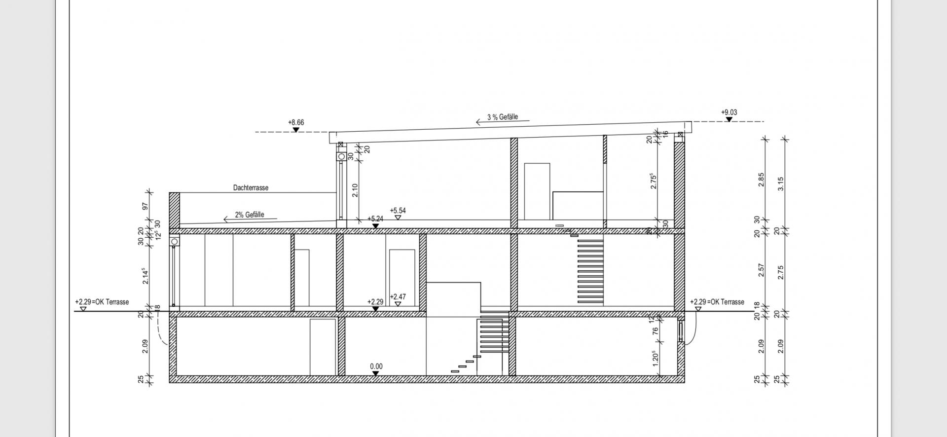 """Bekannt Traufhöhe """"Hangseits"""" 3,5m - Wie ist das beim Pultdach zu messen? HP54"""