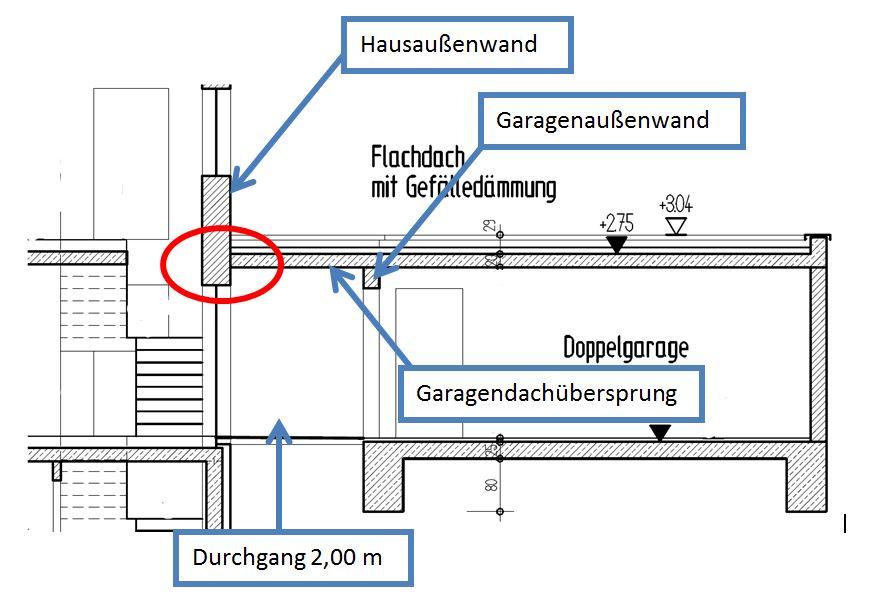 Beliebt Ausführung Garagenflachdach an Haus - Statik WG29