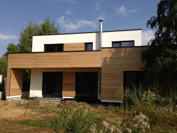 Holzverkleidung Haus mal modern was meint ihr kubus mit holzverkleidung
