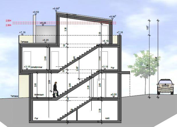 haus schnitt zeichnen grundriss fast fertig wie den kamin wie die treppe und sonst. Black Bedroom Furniture Sets. Home Design Ideas
