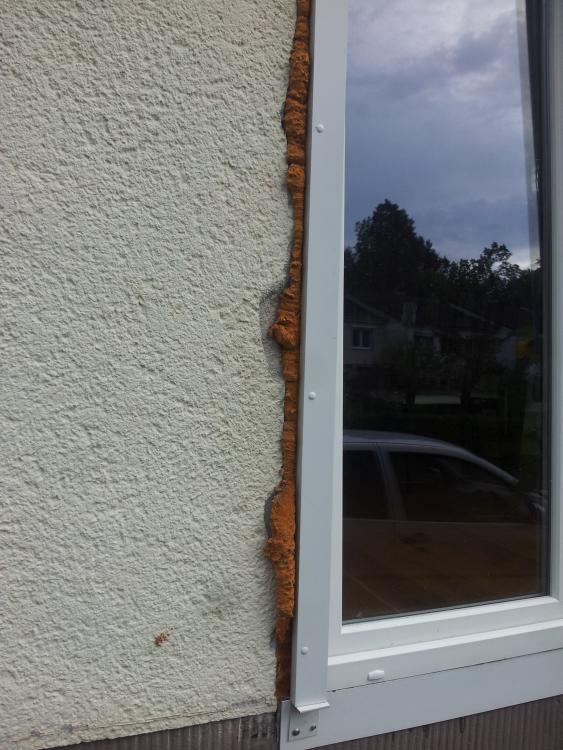 Super Fenster Fuge außen verputzen??? AX41