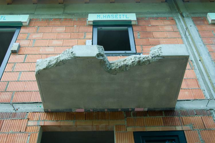 Vordach Beton ausbesserung vordach betonfertigteil