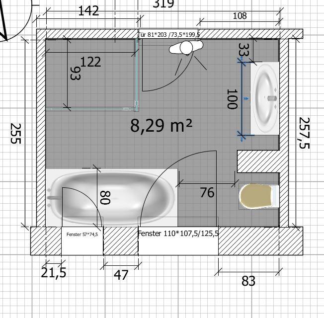 Badezimmer Grundriss Vorschläge sind sehr willkommen