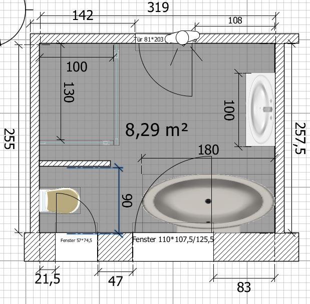 badezimmer grundriss vorschläge sind sehr willkommen - Kleines Badezimmer Grundriss