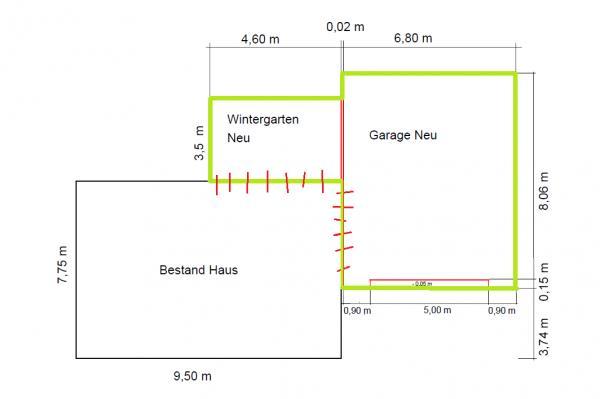 Gut gemocht Tiefbau Streifenfundament + Bodenplatte für Garage und Wintergarten. EP71