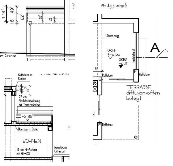 Aufbau Dammung Dachterrasse