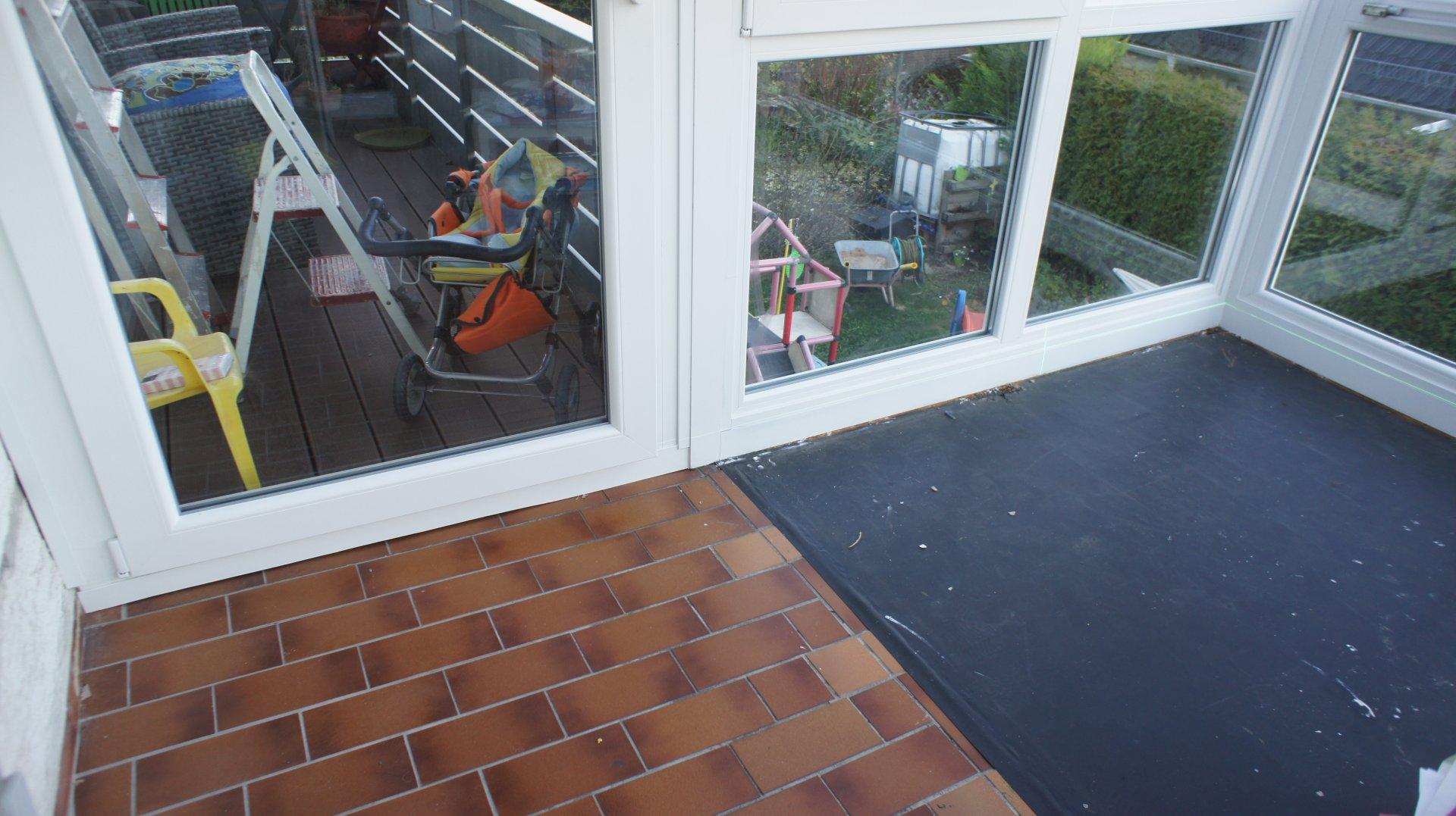 Favorit Boden ausgleichen für Wintergarten FX15