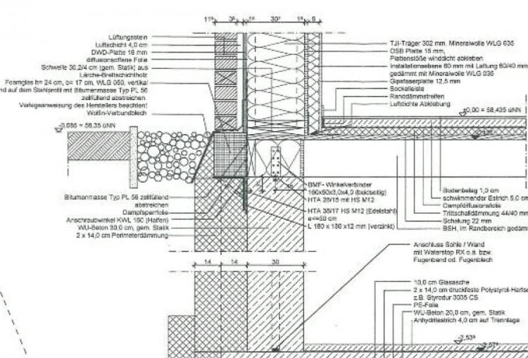 Berühmt Kellerwand, Decke - EG - Wärmebrücke? (Schnitt) YP53