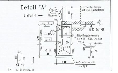 Häufig Bewehrung Streifenfundament Garage TK72