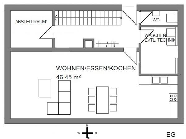 grundriss einfamilienhaus ohne keller die sch nsten einrichtungsideen. Black Bedroom Furniture Sets. Home Design Ideas
