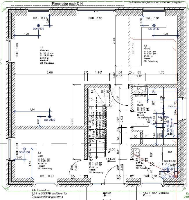 Holzrahmenbau grundriss detail  Dehnungsfugen / Scheinfugen bei Zementestrich