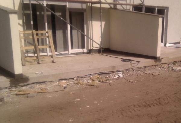 Terrasse Gefalle Unterbau Auf Vorhandener Betonplatte