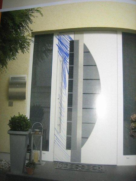 Haustüren mit breitem seitenteil  Haustür - merkwürde Strebe zwischen Tür und Seitenteil