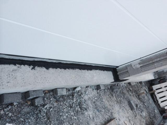 Garagentor Verbreitern garagentor läuft vor schiene auf wasserprobleme