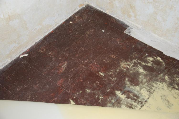 Bodenplatten Rotbraun Asbest Floor Flex