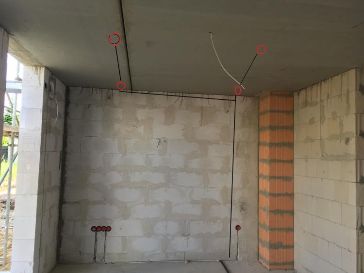 kabel in wand verlegen top im wohnzimmer with kabel in. Black Bedroom Furniture Sets. Home Design Ideas