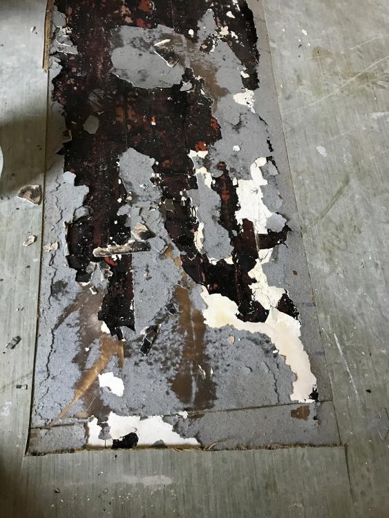 Bekannt Linoleumboden mit Pappschicht (?) ES99