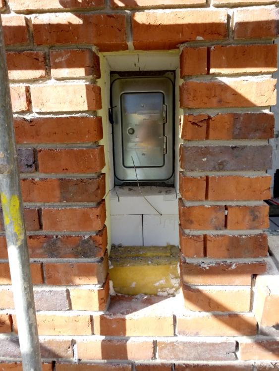 Klappe für reinigungsöffnung schornstein außen