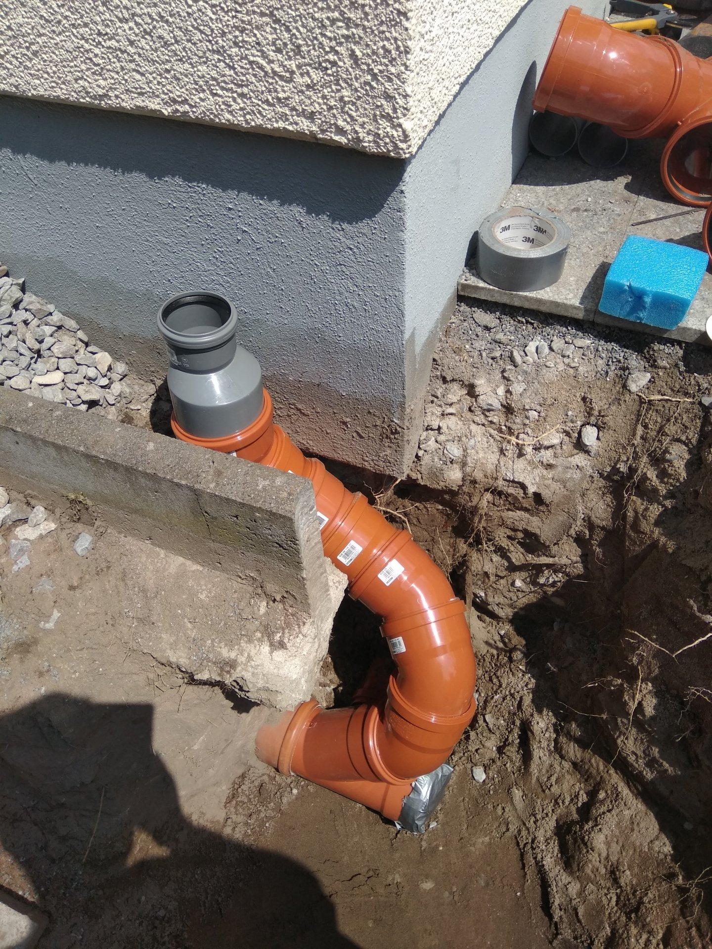 Super KG Rohre für Regenwasser verlegen GL56