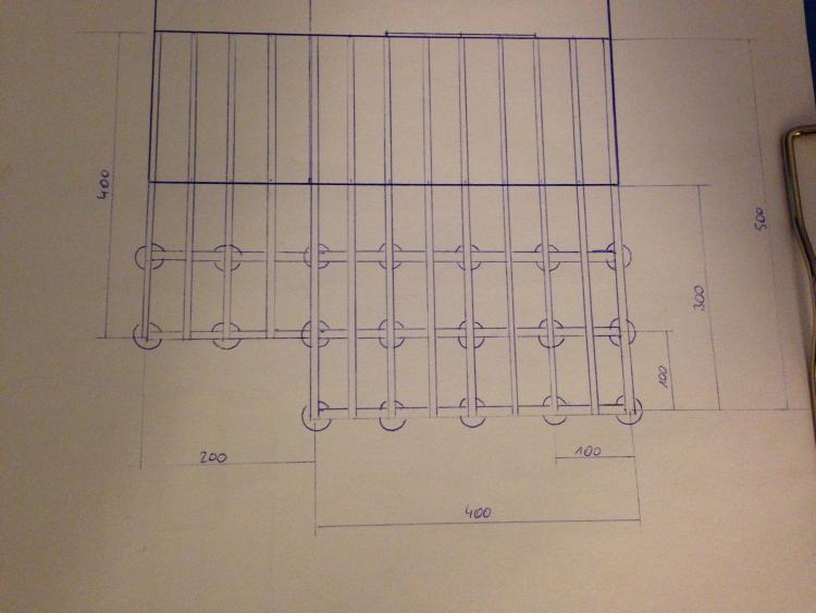 Relativ neue holzterrasse anlegen / unterkonstruktion / punktfundament RA25
