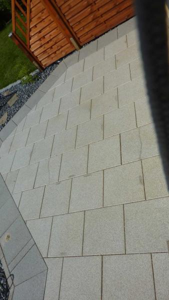Granit Terrassenplaten Haben Nach Verlegung Flecken