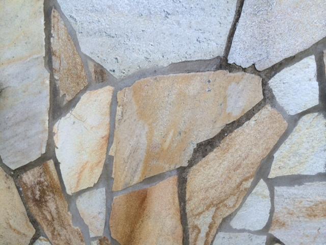 Häufig Aussenwand mit Porphyrplatten verkleiden OM31