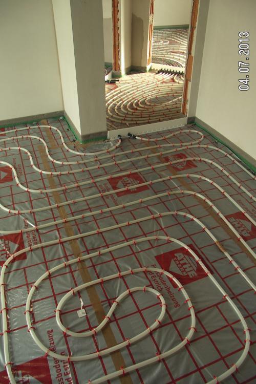Fußbodenheizung KFW 70 Verlegeabstand.