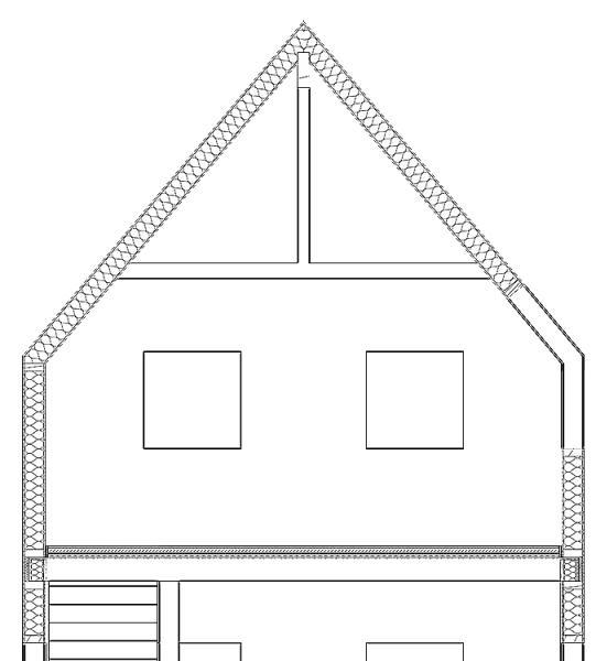 Traufdetail kein dachüberstand  Dach- und Wandaufbau ohne Dachüberstand