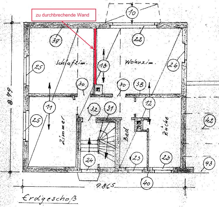 aussteifende wand entfernen. Black Bedroom Furniture Sets. Home Design Ideas
