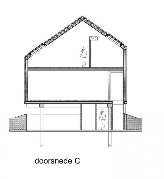 Holzrahmenbau konstruktionsdetails  Dach- und Wandaufbau ohne Dachüberstand