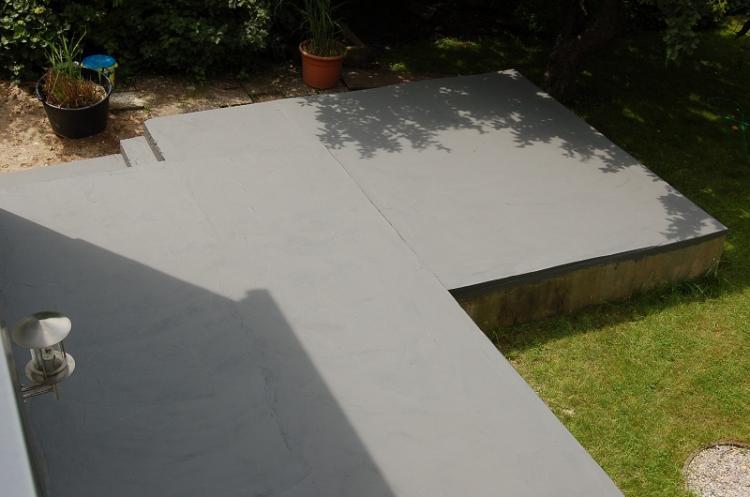 terrasse beton oder estrich. Black Bedroom Furniture Sets. Home Design Ideas