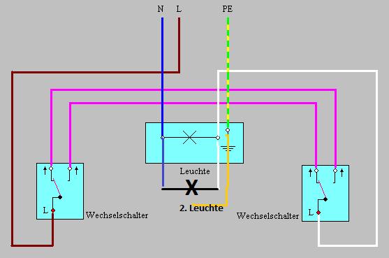 wechselschaltung 2 lampen