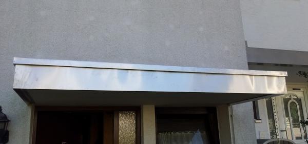 Vordach Beton vordach verkleiden