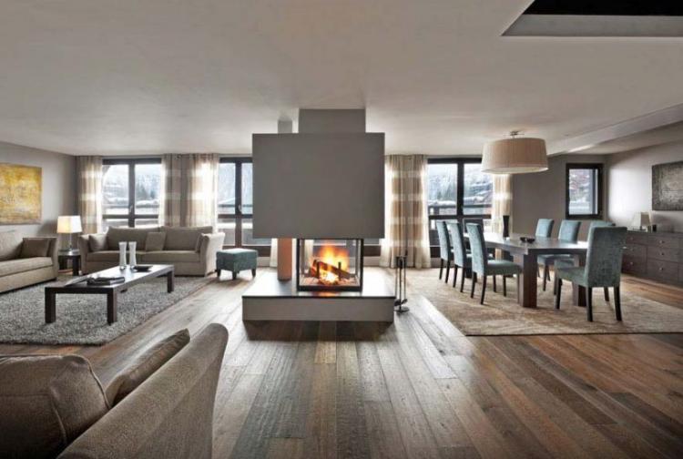 wohnzimmer ideen mit kamin | ziakia. moderner gas kaminofen, Moderne deko