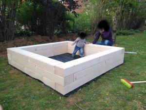 sandkasten aus 12x18 vollholz habe da eine kleine frage zum verbinden des holzes. Black Bedroom Furniture Sets. Home Design Ideas