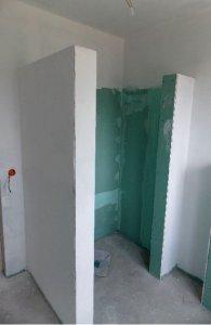 Duschabtrennung trockenbau  Freistehende Duschwand, Statik?