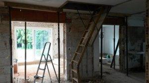 durchbruch tragende wand letzte ziegelreihe mit decke verschliessen. Black Bedroom Furniture Sets. Home Design Ideas
