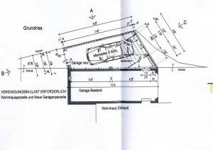 Bauzeichnung Garage kosten bauplan