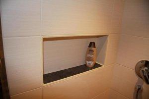 Dusche gemauert wandstärke  Duschnische für Shampoo