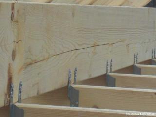 Bevorzugt Risse in gerade erstelltem Dachstuhl FD72